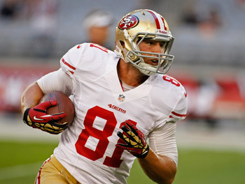 Garrett Celek served as a reliable No. 3 tight end.