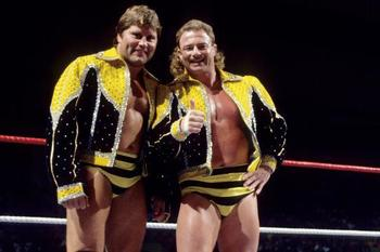 The Killer Bees, Jim Brunzell and B. Brian Blair (photo from wwe.com)