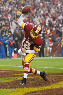 Kirk Cousins emphatically spiked the ball after tying the game against Baltimore with a two-point conversion.