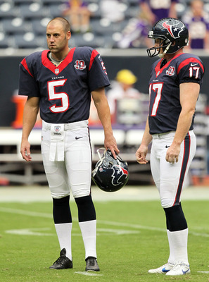 Houston Texans P Donnie Jones Pictured on the Left