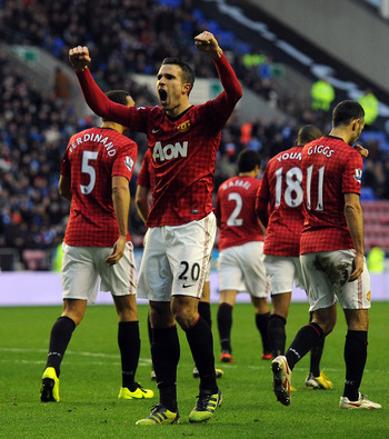 Van Persie has been in sensational form for United this season