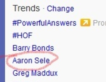 Aaron Sele is trending on Twitter.