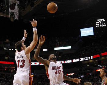 Mike Miller and Udonis Haslem are both playing fewer minutes than last season.