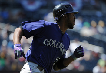 Rockies center fielder Dexter Fowler.