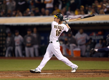Athletics right fielder Josh Reddick.