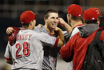 Reds starting pitcher Homer Bailey during his no-hitter in September.