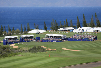 The scenic 18th at Kapalua