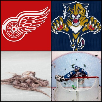 Images via Red Wings, Panthers, Getty Images & AP