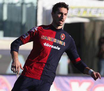 Cagliari's Davide Astori is one of Southampton's rumored transfer targets.
