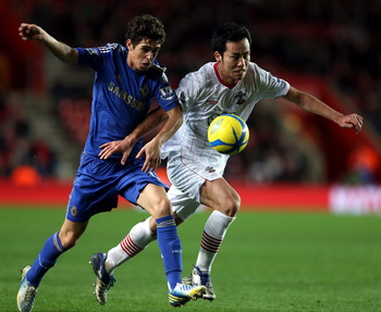 Maya Yoshida (right) will have to be a key figure in the Southampton back four for the Saints to stay up.