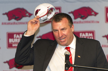 Arkansas head coach Bret Bielema.