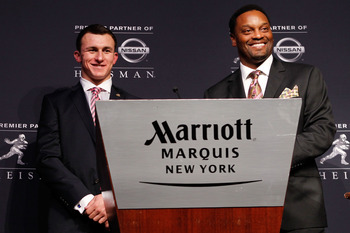 Texas A&M quarterback Johnny Manziel and head coach Kevin Sumlin.