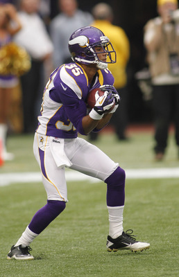 Marcus Sherels recorded nine tackles in 16 games as a cornerback and accumulated 287 yards and a touchdown on punt returns.