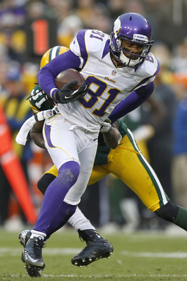 In 12 games Jerome Simpson caught 26 passes for 274 yards and zero touchdowns in his debut season in Minnesota.