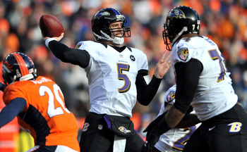 Joe Flacco had his ups and downs against Denver on Saturday, but really came through in the clutch.