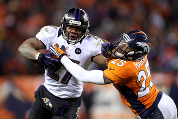 Ray Rice was an absolute workhorse for Baltimore today while rushing 30 times.