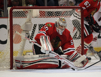 Everything rides on the play of Corey Crawford.