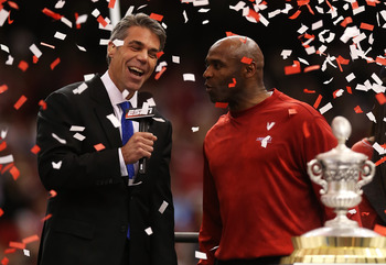 Louisville head coach Charlie Strong after the Sugar Bowl.