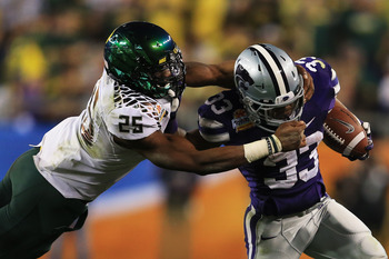 LB Tony Washington started in place of Boseko Lokombo in the Fiesta Bowl