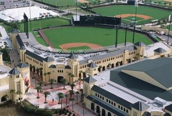 Champion Stadium in Disney World is the spring training home of the Atlanta Braves.