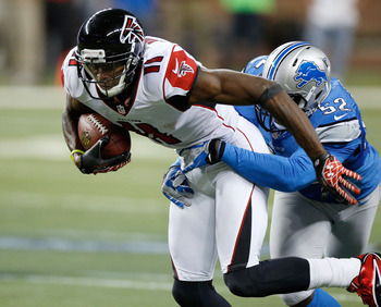 Julio Jones gives the Falcons two threats at receiver.
