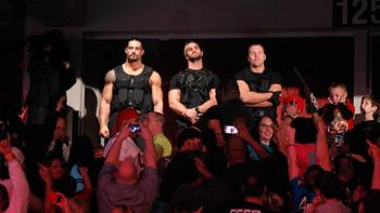 Could we see The Shield split if they were the last three in the rumble? Photo by: WWE