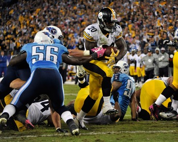 Baron Batch is the Steelers' only running back under contract beyond 2012.