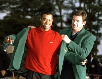 Tiger Woods won the first of his 14 Majors at the '97 Masters, less than a year after making his professional debut.