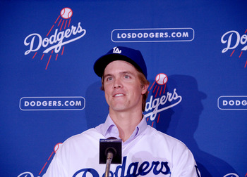 Los Angeles Dodgers SP Zack Greinke