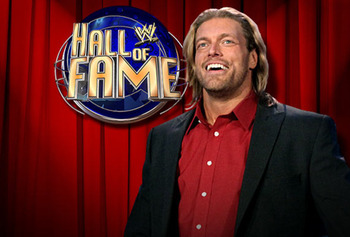 Edge led the WWE Hall of Fame Class of 2012. (B/R photo)