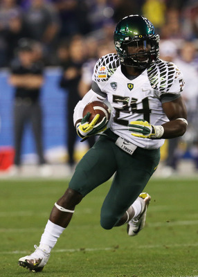 Oregon's Kenjon Barner is someone that the Bengals could target in April's NFL Draft