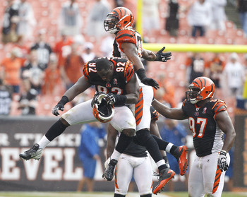 The defensive line accounted for 43 of the Bengals franchise record-setting 51 sacks in 2012.