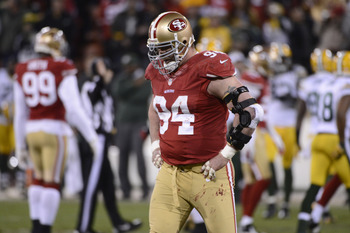 Justin Smith played through his injury.