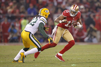 Michael Crabtree had a strong game in the 49ers' win over Green Bay.