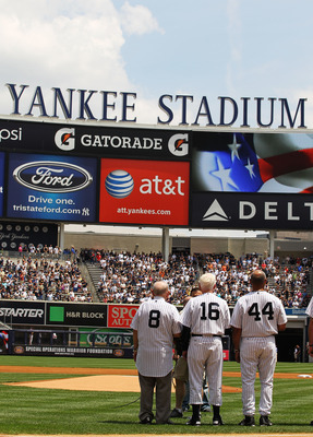 Old Timers Day at Yankee Stadium.