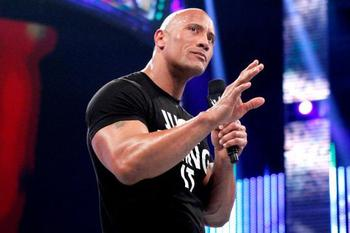 The Rock returns home to SmackDown. (Courtesy of WWE.com)