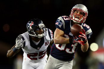 Wes Welker broke free versus Houston.