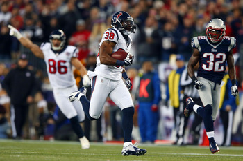 The Texans ran wild on kickoff returns.