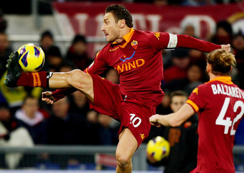 Can enigmatic captain Francesco Totti take points off the title challengers?