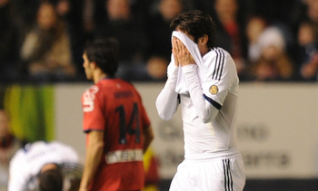 Kaka became the third Real Madrid player to be send off in three matches when he was giving his marching orders at Osasuna.