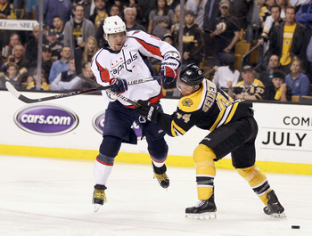 The Capitals will end the 2013 season facing the rival Boston Bruins.