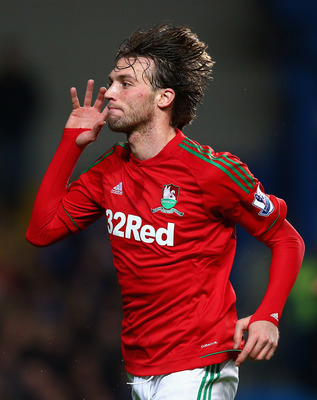Michu has been the star for Swansea City this season.