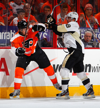 The Flyers and Penguins highlighted the first round of the 2012 playoffs.