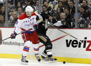 There's never a dull moment in a Penguins-Capitals game.