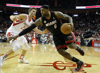 In the second half, LeBron James wreaked havoc on the Rockets.