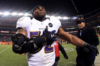 The leader of Baltimore Ravens Ray Lewis