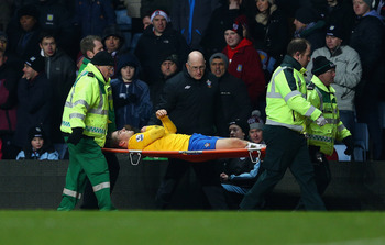 Luke Shaw was carried off the field during Southampton's 1-0 win at Aston Villa.