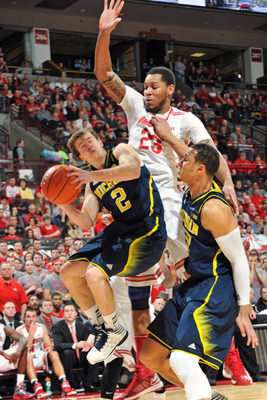 Freshman point guard Spike Albrecht was the lone shining star among Michigan's reserves on Sunday.