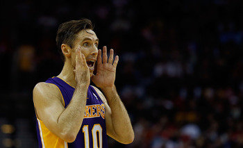 Is anyone listening?  Steve Nash could be the true leader the Lakers have been missing since Derek Fisher was traded last year.