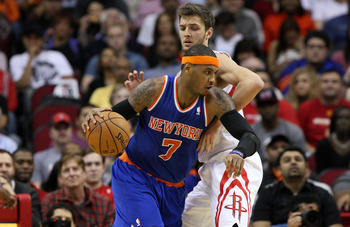 Carmelo is the Knicks' leader, so he's got to lead them to the NBA Finals to be considered for the MVP award.